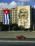 Cuban Flag Outside the Ministerio Del Interior at Plaza De La Revolucion, Havana, Cuba Photographic Print by Gavin Hellier