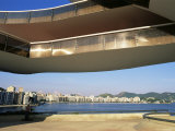 View of Niteroi, Museo De Arte Contemporanea, by Oscar Niemeyer, Rio De Janeiro, Brazil Photographic Print by Upperhall Ltd