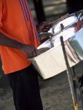 Steel Pan Drummer, Island of Tobago, West Indies, Caribbean, Central America Photographic Print by Yadid Levy