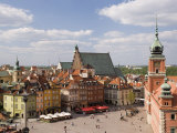 Elevated View Over the Royal Castle and Castle Square, Old Town, Warsaw, Poland Photographic Print by Gavin Hellier