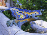 Gaudi Architecture, Parc Guell, Unesco World Heritage Site, Catalunya (Catalonia) (Cataluna), Spain Photographic Print by Gavin Hellier