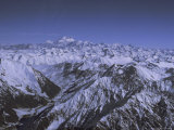 Aerial View of Himalaya Mountain Range, Rising Above Other Mountains, Pakistan Photographic Print by Ursula Gahwiler