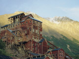 Old Copper Mine Buildings, Preserved National Historic Site, Kennecott, Alaska, USA Photographic Print by Anthony Waltham