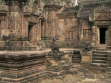 Inner Enclosure of Bante Srei Temple, Dating from the 10th Century, Angkor, Cambodia, Indochina Photographic Print by Upperhall Ltd