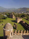 View Over Gonder and the Royal Enclosure from the Top of Fasiladas' Palace, Ethiopia Photographic Print by Gavin Hellier