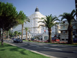 The Carlton Hotel, Viewed from the Croisette, Cannes, Provence, France Photographic Print by Ruth Tomlinson