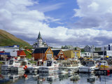 The Harbour and Quay of Husavik, Iceland Photographic Print by Pearl Bucknell