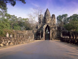 Entrance Gateway to Angkor Thom, Siem Reap Province, Cambodia Photographic Print by Gavin Hellier