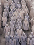 Some of the Six Thousand Statues in the Army of Terracotta Warriors, Shaanxi Province, China Photographic Print by Gavin Hellier