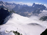 View from Mont Blanc Towards Grandes Jorasses, French Alps, France Photographic Print by Upperhall Ltd