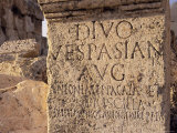 Inscription on Stone in the Great Court, Lebanon, Middle East Photographic Print by Fred Friberg