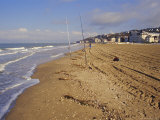 The Beach, Trouville, Deauville-Trouville, Basse Normandie (Normandy), France Photographic Print by David Hughes