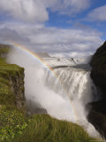 Iceland's Most Famous Waterfall Tumbles 32M into a Steep Sided Canyon, Iceland, Polar Regions Photographic Print by Gavin Hellier