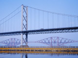 Firth of Forth Bridges, 1964 Road Suspension Bridge, 1890 Rail Bridge, Scotland, UK Photographic Print by Anthony Waltham