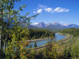 Morants Curve, Bow River, Bow Range, Rocky Mountains, Canada Photographic Print by Hans Peter Merten