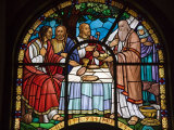 Stained Glass Window in Holy Trinity Cathedral, Addis Ababa, Ethiopia Photographic Print by Gavin Hellier