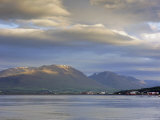 The Head of the Fjord from the Jetty in Akureyri Harbour on a Summer Evening, Iceland Photographic Print by Pearl Bucknell