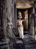 Traditional Cambodian Apsara Dancer, Siem Reap Province, Cambodia Photographic Print by Gavin Hellier