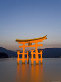 Shinto Shrine Illuminated at Dusk, Island of Honshu, Japan Photographic Print by Gavin Hellier