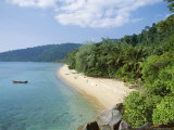 View Along the Coast, Nazri's Beach and Rainforest, Air Batang Bay, Pahang, Malaysia Photographic Print by Jack Jackson