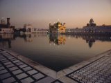 Dawn at the Golden Temple and Cloisters and the Holy Pool of Nectar, Punjab State, India Photographic Print by Jeremy Bright
