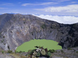 Third Crater, Created in 1994 and Containing Green Lake, Irazu Volcano, Cartago, Costa Rica Photographic Print by Pearl Bucknell