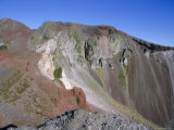Colourful Volcanic Rock, Mount Tarawera, Rotorua, North Island, New Zealand Photographic Print by D H Webster