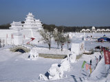 Snow Sculptures in Taiyangdao Park, Ice Lantern Festival, Bingdeng Jie, Heilongjiang, China Photographic Print by Anthony Waltham