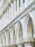 White Columns and Arches of Ducale Palace, St. Mark's Square, Venice, Veneto, Italy Photographic Print by Lee Frost