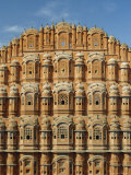 Detail of the Facade of the Palace of the Winds or Hawa Mahal, Rajasthan, India Photographic Print by Jeremy Bright