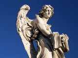 One of Gian Lorenzo Bernini&#39;s 17th Century Stone Angels on Ponte Sant&#39;Angelo, Rome, Lazio, Italy Photographic Print by Ruth Tomlinson
