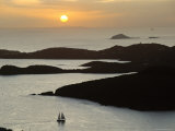 Sunset Over Inlet to Charlotte, Amalie, St. Thomas, Us Virgin Islands, West Indies Photographic Print by Fred Friberg
