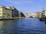 View Along the Grand Canal Towards the Rialto Bridge, Veneto, Italy Photographic Print by Lee Frost