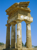 Greek Temple of Castor and Pollux Dating from 5th Century Bc, Sicily, Italy Photographic Print by Firecrest Pictures