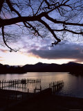 View Across Derwent Water from Lakeside Path at Dusk, Cumbria, England Photographic Print by Ruth Tomlinson