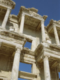Reconstructed Facade of the Library of Celsus, Archaeological Site, Ephesus, Turkey, Anatolia Photographic Print by Robert Harding