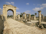 Roman Triumphal Arch and Colonnaded Street, Al Bas Site, Tyre (Sour), the South, Lebanon, Photographic Print
