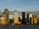World Financial Center Buildings and Skyline Across the Hudson River, New York, USA Photographic Print by Amanda Hall
