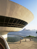 View Across Guanabara Bay to Rio, Museo De Arte Contemporanea, Rio De Janeiro, Brazil Photographic Print by Upperhall Ltd