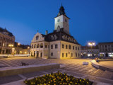 The Council House Dating from 1420 Topped by a Trumpeter's Tower, Brasov, Transylvania Photographic Print by Gavin Hellier