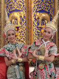 Portrait of Two Dancers in Traditional Thai Classical Dance Costume, Thailand Photographic Print by Gavin Hellier