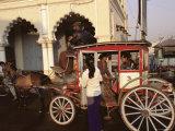 Horse-Drawn Taxi, Pin Oo Lwyn, Myanmar (Burma), Asia Photographic Print by Colin Brynn