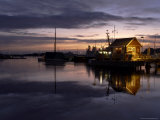 Boat House at Dawn, Stavern, Norway Photographic Print by Joern Simensen