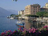 Lakeside Architecture, Bellagio, Lake Como, Lombardia, Italy Photographic Print by Christina Gascoigne