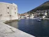 City Walls, the Harbour in Background, Dubrovnik, Croatia Photographic Print by Joern Simensen