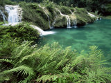 Limestone Waterfall, Semuc Champey, Guatemala, Central America Photographic Print by Colin Brynn