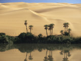 Oum El Ma (Umm El Ma) Lake, Mandara Valley, Southwest Desert, Libya, North Africa, Africa Photographic Print by Nico Tondini