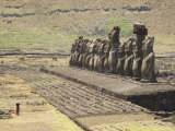 Ahu Tongariki, Easter Island (Rapa Nui), Unesco World Heritage Site, Chile, South America Photographic Print by Michael Snell
