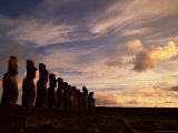 Ahu Tongariki, Easter Island (Rapa Nui), Chile, South America Photographic Print by Jochen Schlenker