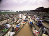 Floating Market, Inle Lake, Shan State, Myanmar (Burma), Asia Photographic Print by Colin Brynn